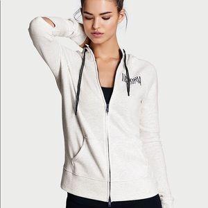 Victoria Sport Elbow Slit Zip-Up Hoodie